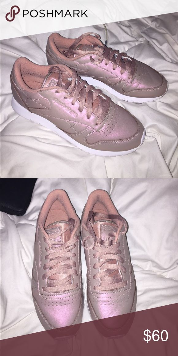Rose Gold Reeboks Rose gold reebok classics. Gently worn and are in great condition. Reebok Shoes Sneakers