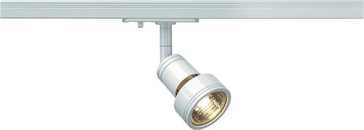 Hochvolt-Schienensystem-Leuchte 1phasig GU10 50 W Halogen SLV Puri 143391 Weiß