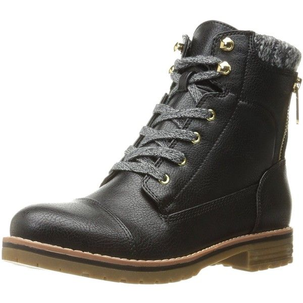 Tommy Hilfiger Women's Omar2 Combat Boot ($55) ❤ liked on Polyvore featuring shoes, boots, combat booties, military boots, tommy hilfiger, tommy hilfiger shoes and tommy hilfiger footwear