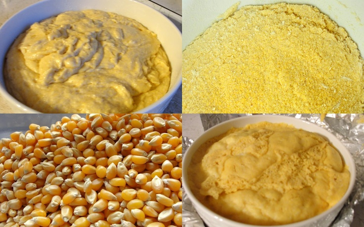 Make #CORNMEAL for Cornbread by simply grinding #POPCORN KERNELS in #Vitamix!!  from Healthy Family Cookin'