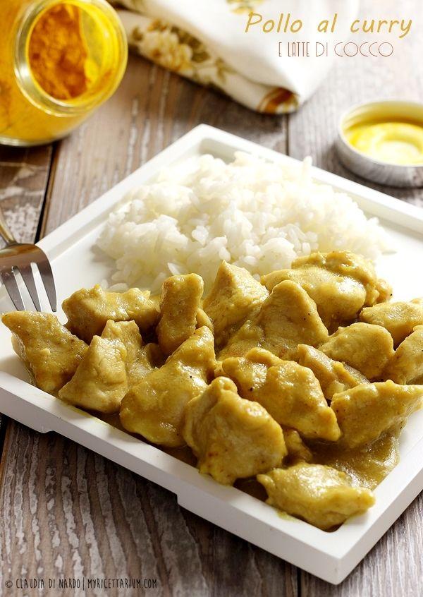 My Ricettarium: Pollo al curry e latte di cocco