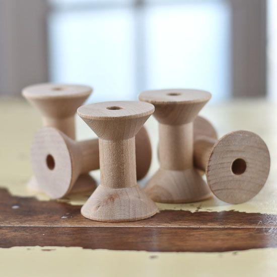 """2"""" Thin Barrel Wooden Spools"""