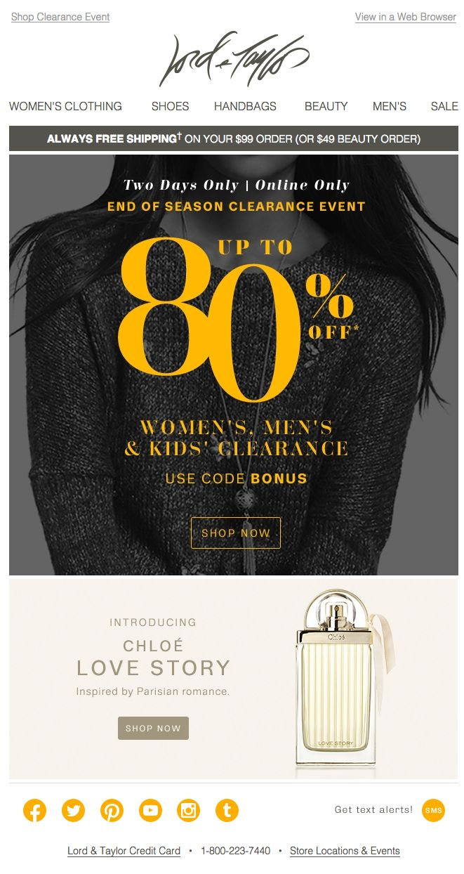 91 best email sales images on pinterest email design storage lord taylor email 2015