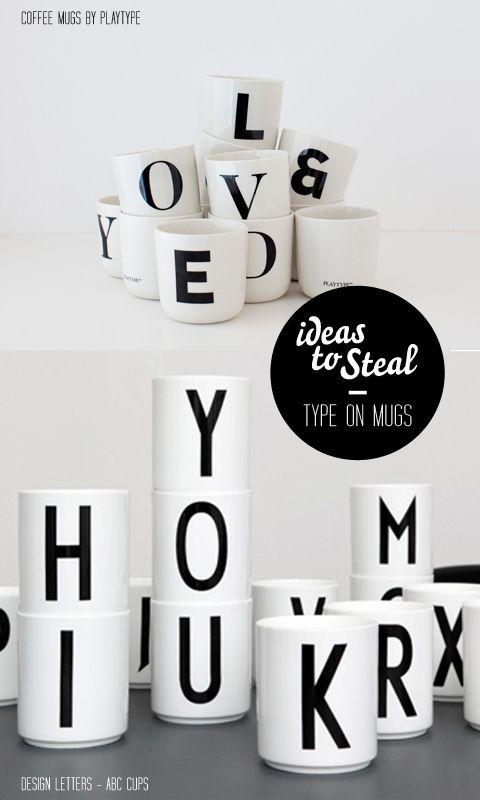 DIY: lettered coffee mugs #cindabgiftideas