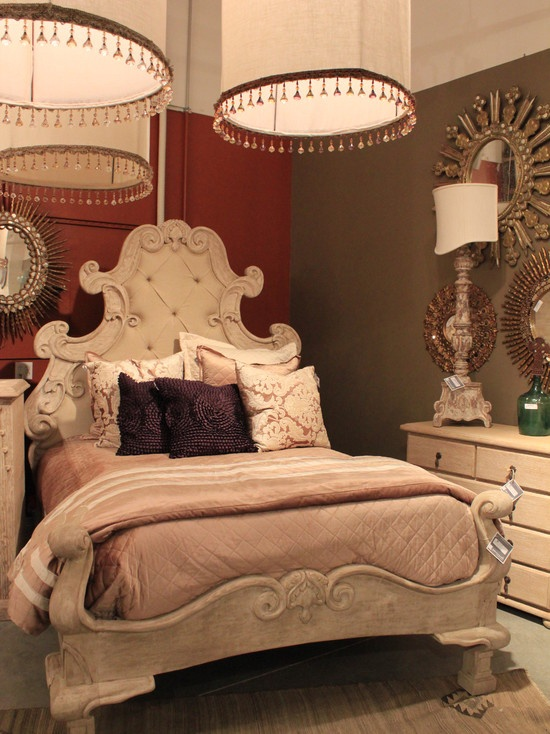 Mediterranean Bedroom Canopy Bed Design, Pictures, Remodel ...