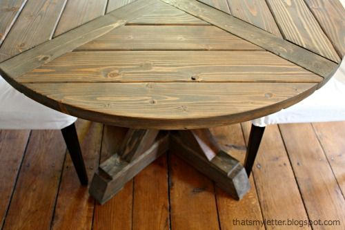 "That's My Letter: ""X"" is for X Base Circular Dining Table"