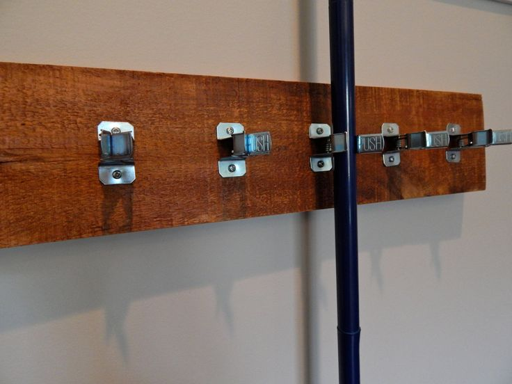Hanging Utility Rack Broom and Mop Holder by MidwestSalvageStudio