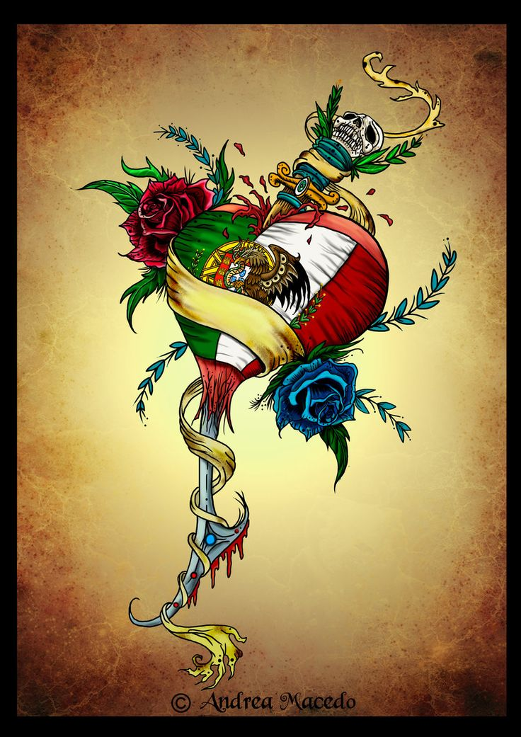 Love this... Ita the Portuguese and Mexican flag together so I'm thinking my next tattoo