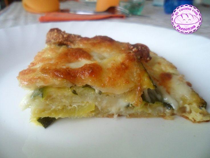 #Parmigiana bianca di #zucchine e #patate