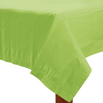 Stor limegrøn papir dug. Stort udvalg af limegrøn engangsservice og limegrøn festartikler.