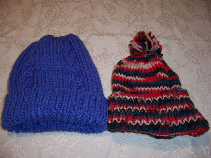 Bulky hats for cold winters.