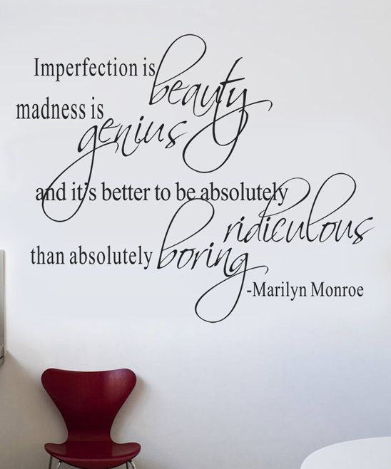 Marilyn Quote Decal