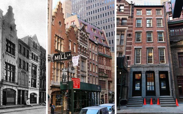 """Looking at William Street in New Amsterdam (NYC) from this angle, it really does look like """"old"""" Amsterdam....."""