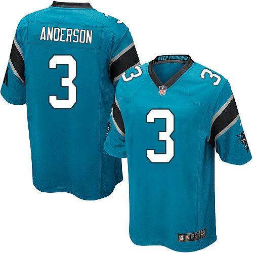 Youth Nike Carolina Panthers #3 Derek Anderson Limited Blue Alternate NFL Jersey Sale