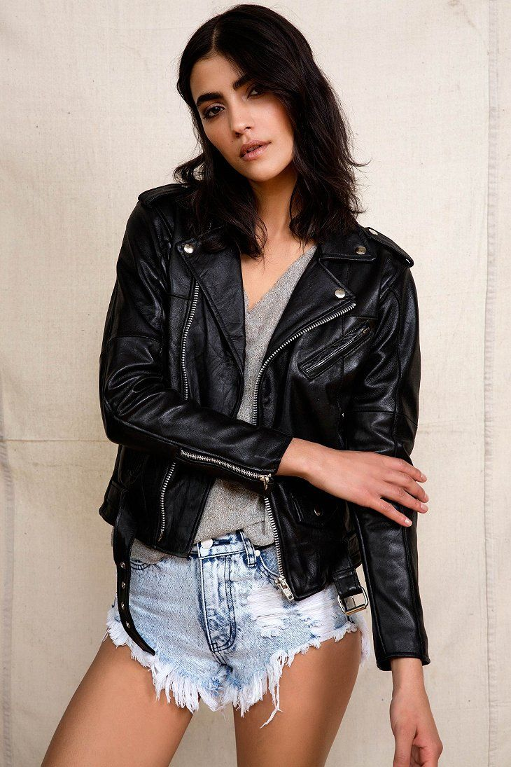 Leather jacket urban outfitters - Pelechecoco Leather Biker Jacket Urban Outfitters