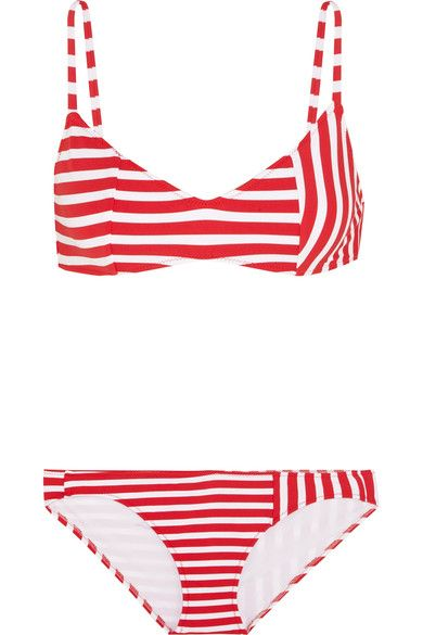 Araks - Elsa Striped Triangle Bikini - Red - small