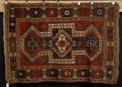 7081 - Antique Kazak Carpet Autumn Estate Auction | Official Kaminski Auctions
