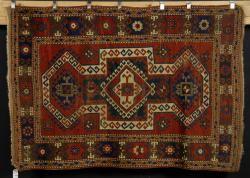 7081 - Antique Kazak Carpet Autumn Estate Auction   Official Kaminski Auctions