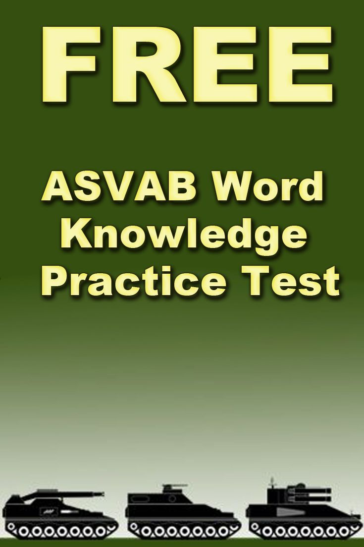 Free ASVAB Word Knowledge Practice Test  http://www.mometrix.com/academy/asvab-word-knowledge-practice-test/