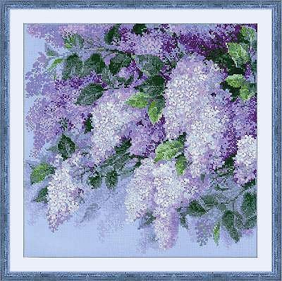 COUNTED CROSS STITCH KIT RIOLIS - LILAC AFTER RAIN