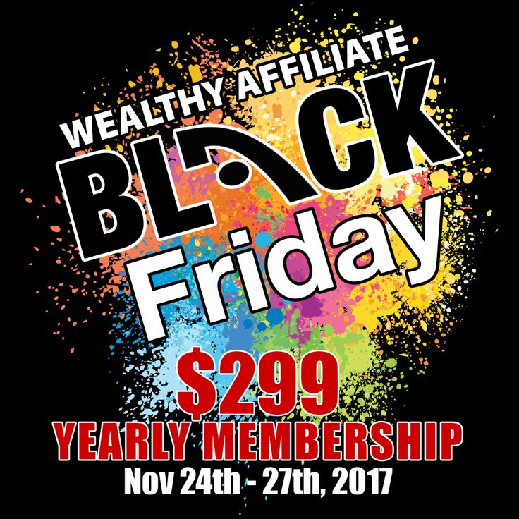 Affiliate Marketing For Beginners Step By Step....Wealthy Affiliate Black Friday Special Deal 2017 - BOOK MARK THIS PIN TO SAVE HALF OFF An All In One Business Platform To Learn, Research, Manage, Build and Run Your Online Business With Full Unrestricted Access For One Extremely Low Price For The Value You Get. Learn Affiliate Marketing For Beginners Step By Step and how to start blogging for beginners