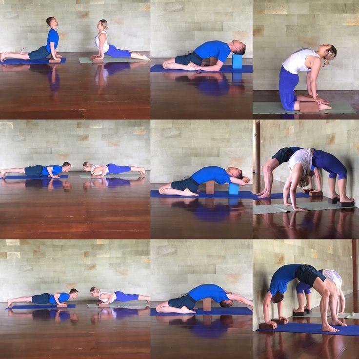 Backbends using a yoga block