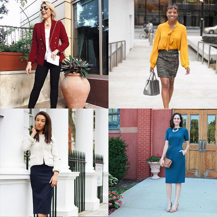 4 wonderful women 4 different styles. Here are some my favorite business style IG profiles on a #followfriday