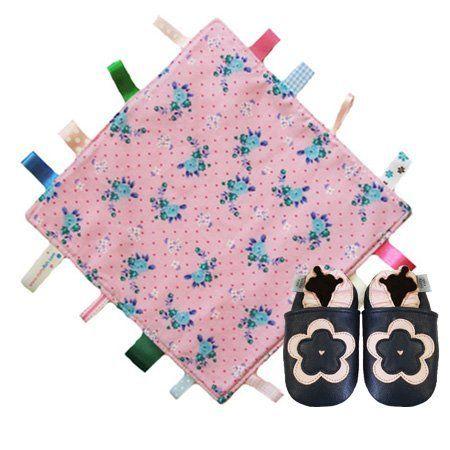 Dotty Fish rosa Blumendecke Steppdecke & dunkelblau-rosa weiche Leder Babyschuhe Geschenkset. Mädchen 0-6 Monate Dotty Fish, http://www.amazon.de/dp/B00E6PH2QU/ref=cm_sw_r_pi_dp_iwzdsb12H6X5Y