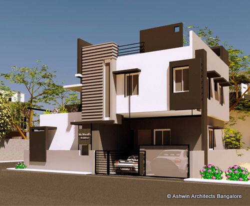 7 best front elevation models images on pinterest house for Simple house elevation models
