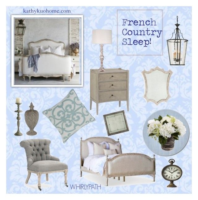 French Country Sleep! by whirlypath on Polyvore featuring interior, interiors, interior design, home, home decor, interior decorating, Dauphine, WALL, bedroom and country