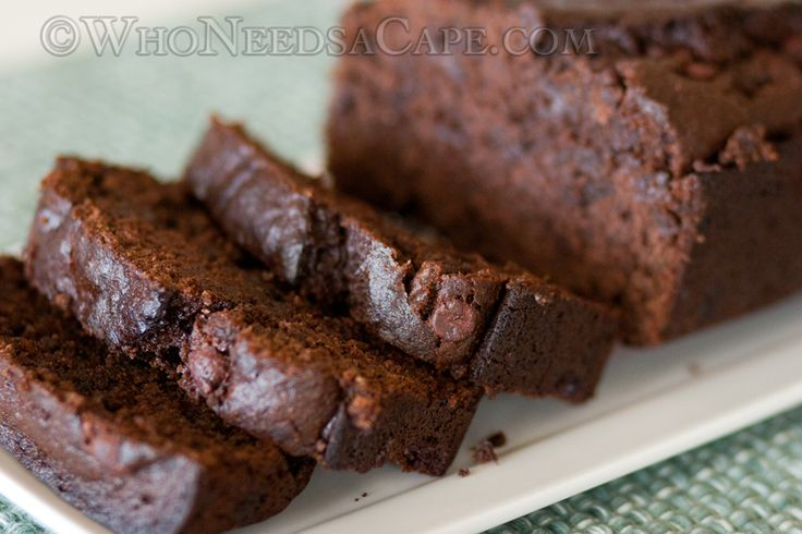 Sour Cream Chocolate Chocolate Chip Banana Bread ~ by Who Needs A Cape? #bananabread