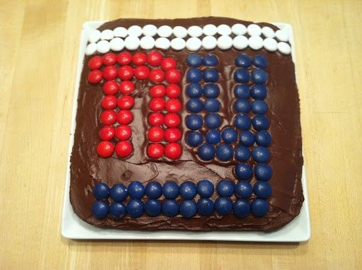 New York Giants football cake - Superbowl