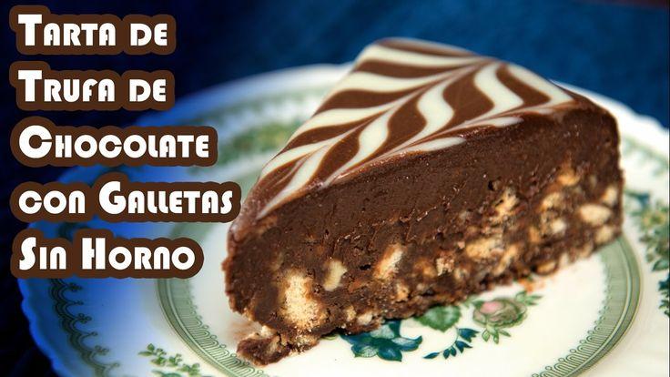 Tarta de Chocolate Trufa con Galletas Sin Horno Chocolate Cookie Cake