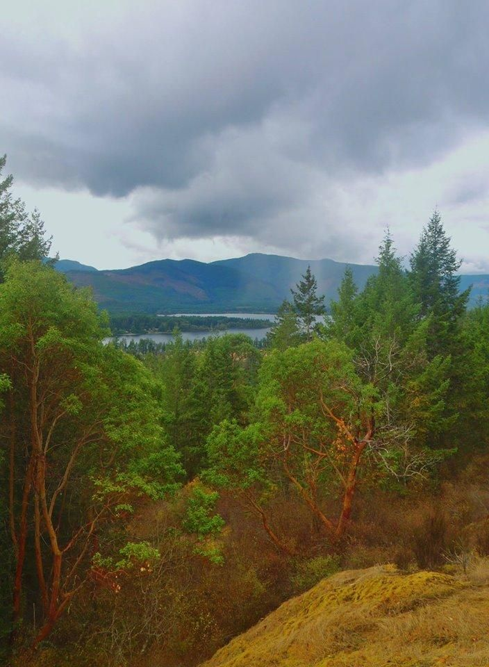 Hiking the trails around Lake Cowichan. Photo courtesy of Cheryl Power.