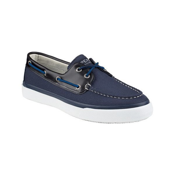 Men's Sperry Top-Sider Bahama 2-Eye Ballistic Boat Shoe - Navy Nylon... ($65) ❤ liked on Polyvore featuring men's fashion, men's shoes, men's loafers, blue, casual, lace up shoes, mens deck shoes, mens blue shoes, sperry mens shoes and mens topsiders