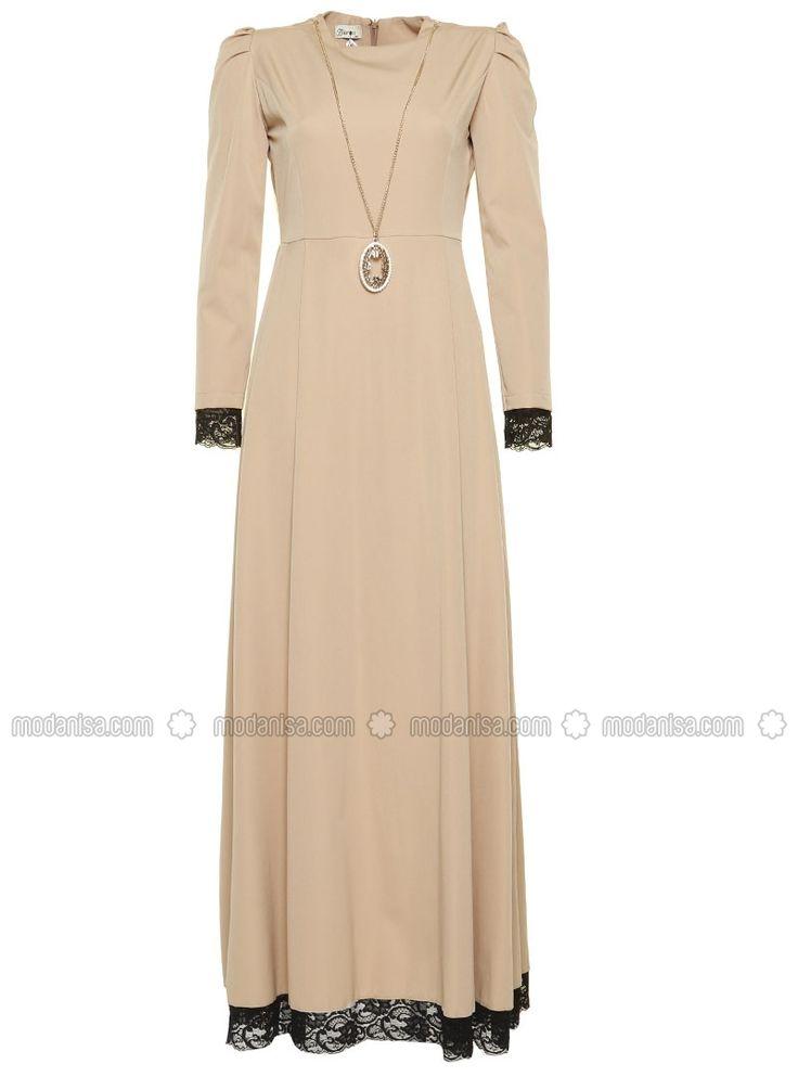 Lace Detail Dress - Minc - BURUN
