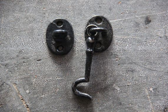 Vintage Cabinet Toggle Lock Chippy Black Cupboard Lock