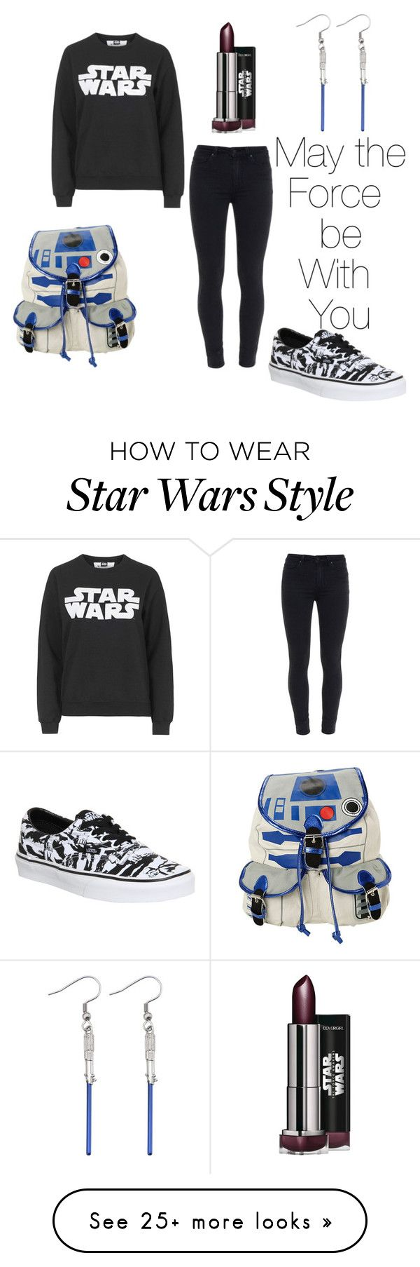 """Star Wars"" by esteficamicaro on Polyvore featuring Tee and Cake, Paige Denim, R2 and Vans"