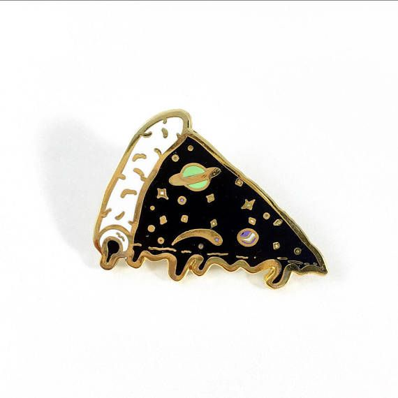 IN STOCK Black/Gold Edition Galaxy Pizza Pin