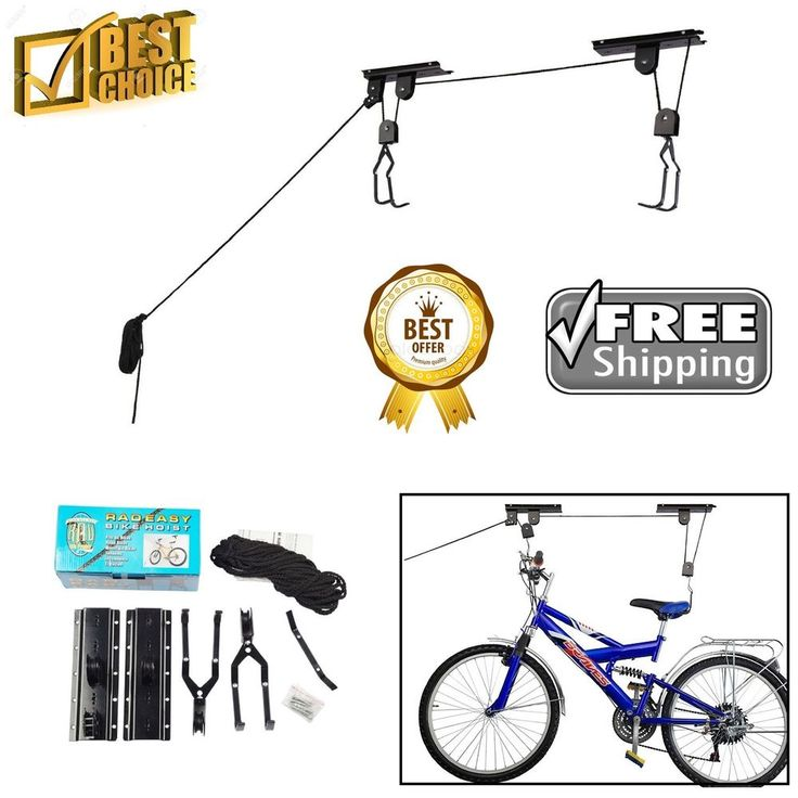 Bicycle Storage Hoist RAD Cycle Products Bike Lift Hoist Garage Mountain 2 Pack #RADCycleProducts