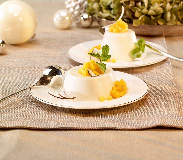 Egal, was es zuvor zu essen gab, beim Dessert darf es gerne exotisch werden. Da kommt diese Kombination aus Kokos und Mango genau richtig.