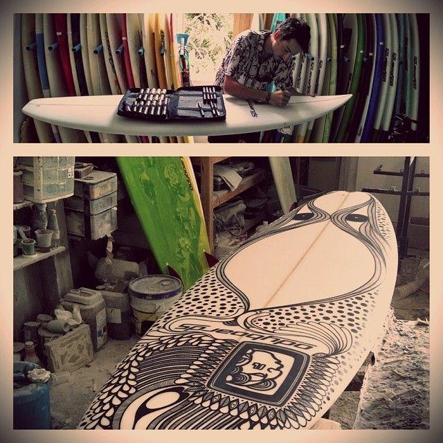 Π Empezaron los diseños de tablas #surf #board #shape #design #posca  #poscaoficial  (en Ody Surfboards, Brisas de Zicatela) @POSCA Gallery Gallery Gallery Gallery