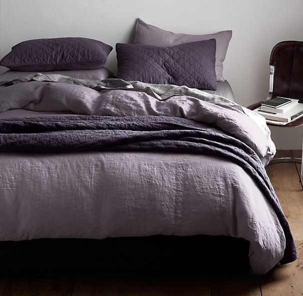 Garment-Dyed Linen Bedding Collection | Bespoke Garment-Dyed Linen Bedding | Restoration Hardware