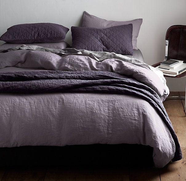 Garment-Dyed Linen Bedding Collection   Bespoke Garment-Dyed Linen Bedding   Restoration Hardware