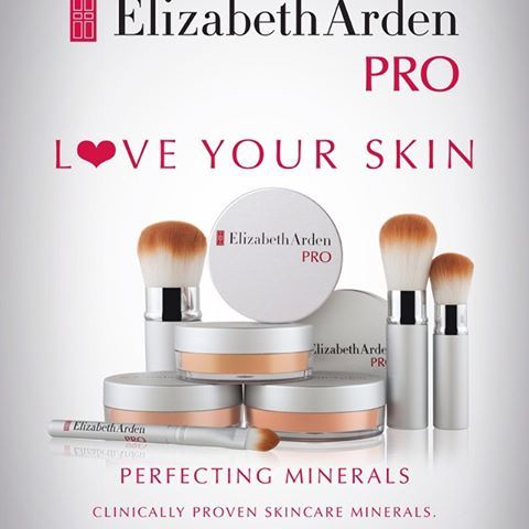 love your skin, love Elizabeth Arden PRO perfecting minerals. Clinically proven skincare minerals now available from Rebel Rouge in Glasgow