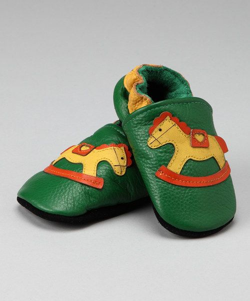 Teeny tiny shoes on itsy-bitsy feet are impossibly sweet. Why not up the adorable factor with this colorful and cozy pair? Made from supple leather and lined in soft cotton, these baby booties are sumptuously sweet.Leather upperCotton liningLeather soleImported