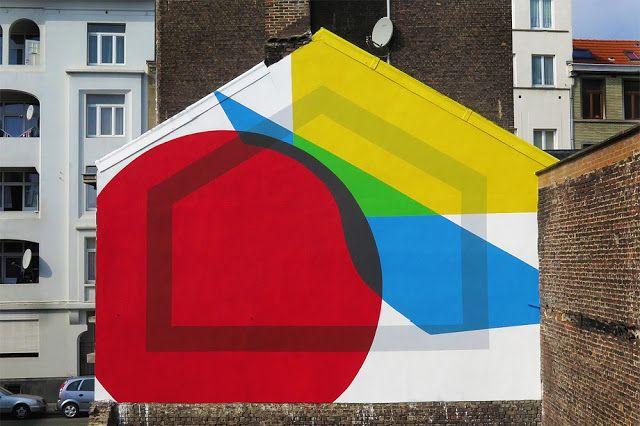 ELIAN CHALI  'Dark Perimetr / Basic Primary Shapes' for Nuit Blanche  [Brussels, Belgium 2015]
