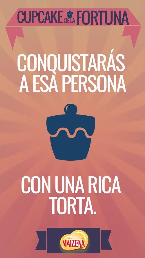 Una linda frase para compartir con este #cupcakedelafortuna.