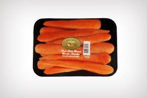 Tray Pack, no manejan zanahorias pero esta es la presentación de este tipo de empaque.