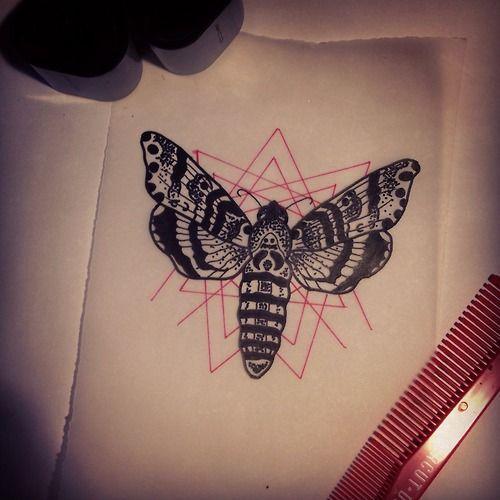 death moth tattoo geo | Татуировки | Pinterest | Moth ...